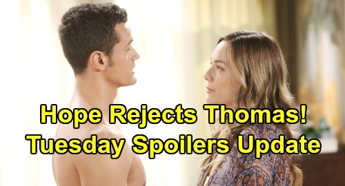 The Bold and the Beautiful Spoilers: Tuesday, July 30 Update – Thomas' Dangerous Fury After Hope Rejection – Logan Sisters Stun Flo