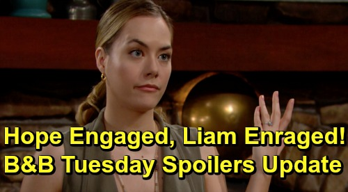 The Bold and the Beautiful Spoilers: Tuesday, July 9 Update – Hope's Engaged, Liam's Enraged – Zoe Sides With Thomas