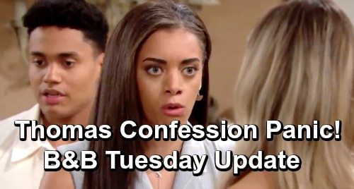 The Bold and the Beautiful Spoilers: Tuesday, June 11 Update – Beth Secret Circle Panics Over Thomas' Vow to Confess