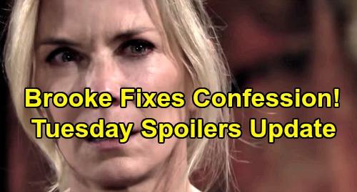 The Bold and the Beautiful Spoilers: Tuesday, November 19 Update – Brooke Fixes Hope's Confession – Ridge Thinks Thomas Ran Off in Shame