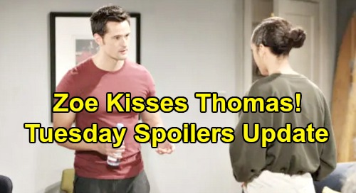 The Bold and the Beautiful Spoilers: Tuesday, November 5 Update – Zoe's Lip Lock Distracts Thomas - Liam's Exciting Bill Offer