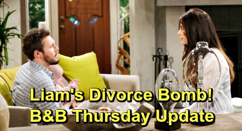 The Bold and the Beautiful Spoilers: Thursday, May 23 Update – Liam's Divorce Bomb Stuns Steffy – Smug Thomas Faces Ridge's Warning