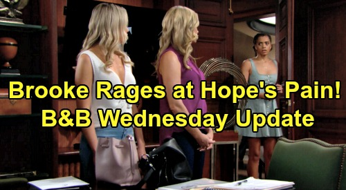 The Bold and the Beautiful Spoilers: Wednesday, August 7 Update – Hope Angered by Thomas & Baby Switch Story, Brooke Fumes Over Her Pain