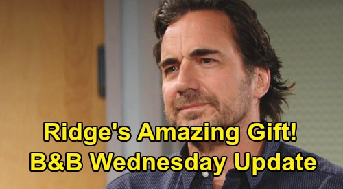 The Bold and the Beautiful Spoilers: Wednesday, February 26 Update – Sally Blown Away by Ridge's Amazing Gift – Wyatt & Flo's Goodbye