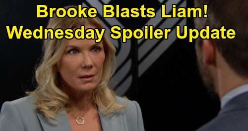 The Bold and the Beautiful Spoilers: Wednesday, February 5 Update – Brooke Demands Hope Reunion, Blasts Liam – Thomas Seeks Quinn as Ally