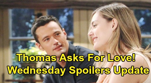 The Bold and the Beautiful Spoilers: Wednesday, July 17 Update - Hope Doesn't Love Thomas - Liam Plans To Stop Wedding
