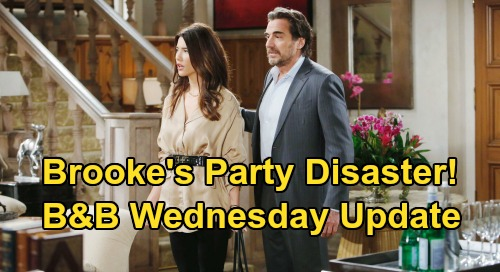 The Bold and the Beautiful Spoilers: Wednesday, March 25 Update – Quinn Gloats to Outraged Brooke - Doomed 'Bridge' Reunion Party Begins