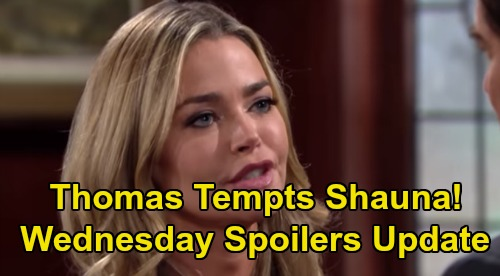 The Bold and the Beautiful Spoilers: Wednesday, October 16 Update – Thomas Tempts Shauna To Blow Up Brooke & Ridge