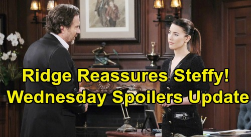 The Bold and the Beautiful Spoilers: Wednesday, October 23 Update – Thomas Won't Surrender Son – Ridge Assures Steffy of Douglas' Future