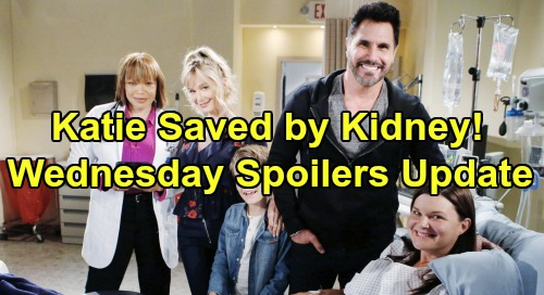 The Bold and the Beautiful Spoilers: Wednesday, October 9 Update – Katie Marvels Over Anonymous Kidney – Shauna Objects to Secret
