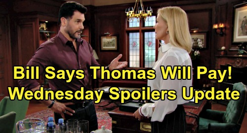 The Bold and the Beautiful Spoilers: Wednesday, September 4 Update – Bill Warns Thomas Payback Coming – Ridge's Flo Fury Erupts