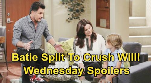The Bold and the Beautiful Spoilers: Wednesday, April 1 - Katie & Bill Split will Crush Will - Ridge & Shauna Vegas Love-Fest