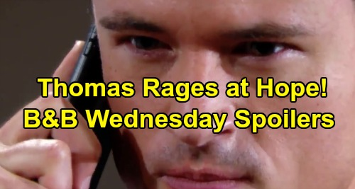 The Bold and the Beautiful Spoilers: Wednesday, August 21 - Liam & Brooke Panic Over Hope's Safety - Thomas Enraged Over Annulment Plans