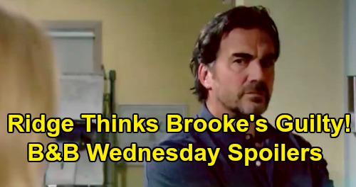 The Bold and the Beautiful Spoilers: Wednesday, August 28 - Ridge Hostile Toward Brooke - Shauna Heartbroken To See Flo In Custody