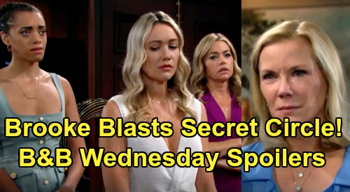 The Bold and the Beautiful Spoilers:Wednesday, August 7 - Brooke Rages At Flo, Shauna, & Zoe - Hope Stunned By Baby Swap Details