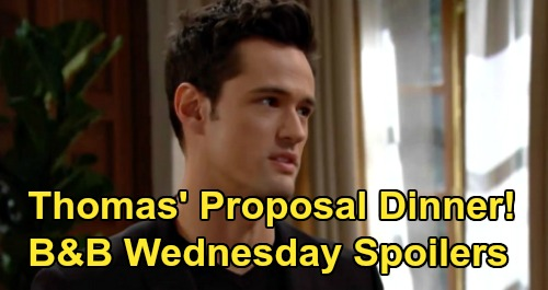The Bold and the Beautiful Spoilers: Wednesday, February 19 - Thomas's Forrester Family Dinner – Plans Zoe Proposal To Provoke Douglas Meltdown
