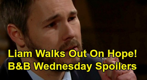 The Bold and the Beautiful Spoilers: Wednesday, January 8 - Liam Walks Out On Hope - Thomas Freaks Over Terms of Liam's Proposal