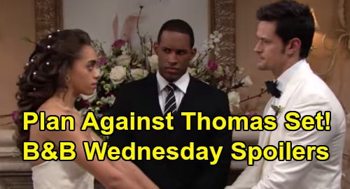 The Bold and the Beautiful Spoilers: Wednesday, March 11 - Thomas Marriage Surprise All Set - Steffy & Brooke Try To Talk Zoe Out of Wedding