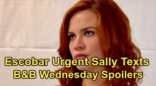 The Bold and the Beautiful Spoilers: Wednesday, March 18 - Dr. Escobar's Urgent Texts To Sally - Shauna's Got a Secret