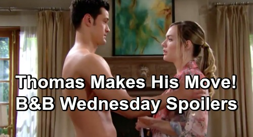 The Bold and the Beautiful Spoilers: Wednesday, May 1 - Thomas Asks Hope To Leave Liam - Wyatt & Flo Kiss Again