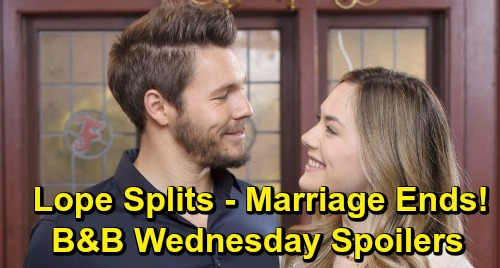 The Bold and the Beautiful Spoilers: Wednesday, May 22 - Hope & Liam's Marriage Crumbles - Heartbroken Couple Call It Quits