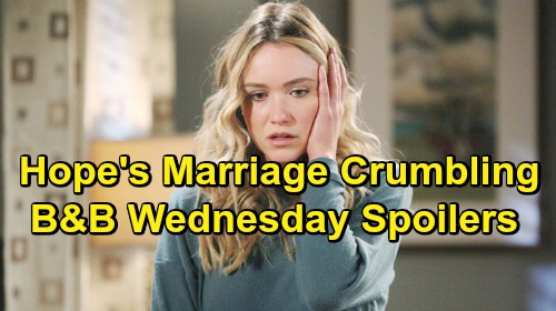 The Bold and the Beautiful Spoilers: Wednesday, May 8 - Hope Tells Flo Liam Marriage Failing - Sally Unleashes On Thomas