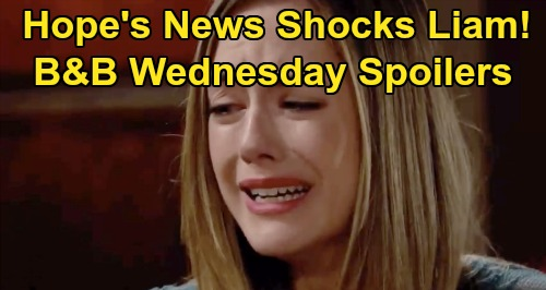 The Bold and the Beautiful Spoilers: Wednesday, November 13 - Liam Learns Hope's Now Douglas' Mother - Hope's Guilt Consumes Her