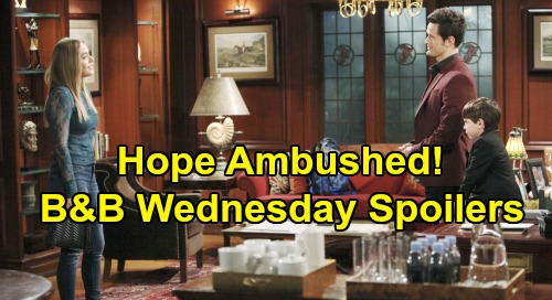 The Bold and the Beautiful Spoilers: Wednesday, November 6 - Hope Ambushed by Thomas - Steffy Tries To Talk Some Sense Into Brother