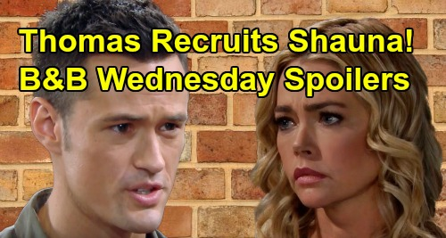 The Bold and the Beautiful Spoilers: Wednesday, October 16 - Ridge Tries To Keep Kiss Secret - Thomas Asks Shauna To Break Up Bridge