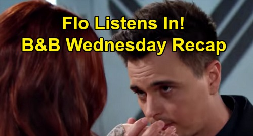 The Bold and the Beautiful Spoilers: Wednesday, February 26 Recap - Wyatt Kisses Sally's Hands, Hears Love Talk - Flo Listens In
