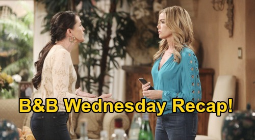 The Bold and the Beautiful Spoilers: Wednesday, March 18 Recap - Shauna Shows Quinn Video of 'Brill' Kiss - Sally Tells Escobar To Back Off