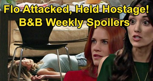 The Bold and the Beautiful Spoilers: Week of April 20 – Penny Knocks Flo Out - Sally Panics as Wyatt Arrives, Ties Up Hostage