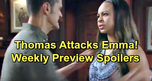 The Bold and the Beautiful Spoilers: Week of June 17 Preview – Thomas Attacks Emma Over Spilled Beth Secret – Deadly Shocker Hits