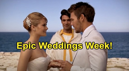 The Bold and the Beautiful Spoilers: Week of May 4 Preview – Epic Wedding Week - Liam Marries Hope in Italy, Steffy in Australia