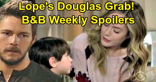 The Bold and the Beautiful Spoilers: Week of October 21 – Hope Pushes Liam to Keep Douglas Permanently – Brooke & Ridge Split
