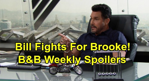 The Bold and the Beautiful Spoilers: Week of September 2 – Bill Fights for Brooke – Ridge Demands Emma Answers From Flo