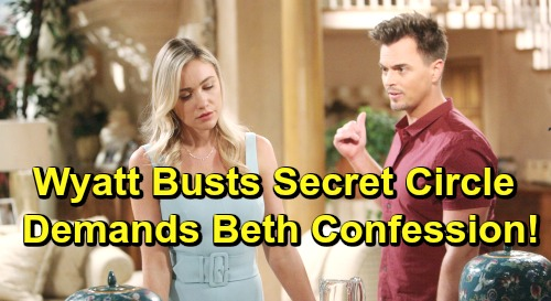 The Bold and the Beautiful Spoilers: Wyatt Overhears Beth Battle – Demands Baby Swap Confession