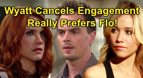 The Bold and the Beautiful Spoilers: Sally Suggests Quick Elopement, Wyatt Says 'NO' - Calls Off Engagement, Wants Flo?
