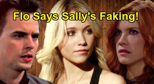 The Bold and the Beautiful Spoilers: Flo Accuses Sally of Faking Terminal Illness – Wyatt Turns Against Her, Takes Sally's Side?