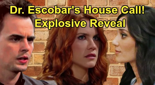 The Bold and the Beautiful Spoilers: Sally Explodes Over Dr. Escobar's House Call – Wyatt Joins Chaos For Surprise Reveal