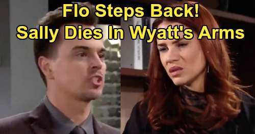 The Bold and the Beautiful Spoilers: Flo Steps Aside - Lets Sally Die In Wyatt's Arms?