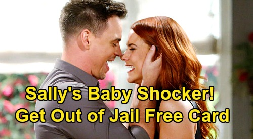 The Bold and the Beautiful Spoilers: Sally's Baby Is Get-Out-of-Jail-Free Card – Pregnant by Wyatt During Flo's Hostage Ordeal?