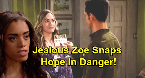 The Bold and the Beautiful Spoilers: Zoe Snaps, Declares War On Thomas - Hope In Serious Danger