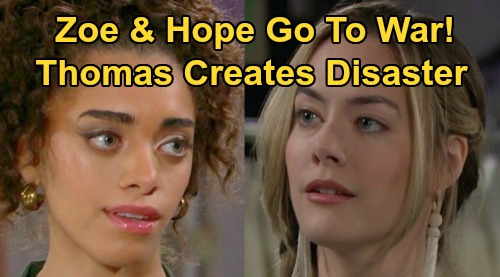 The Bold and the Beautiful Spoilers: Hope and Zoe Go to War, Rivalry Erupts – Thomas' Twisted Plan Spirals Out of Control?