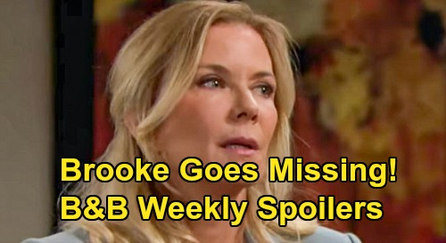 The Bold and the Beautiful Spoilers: Week of March 23 – Brooke Goes Missing – Video Crushes Katie & Ridge – Flo Suspects Sally