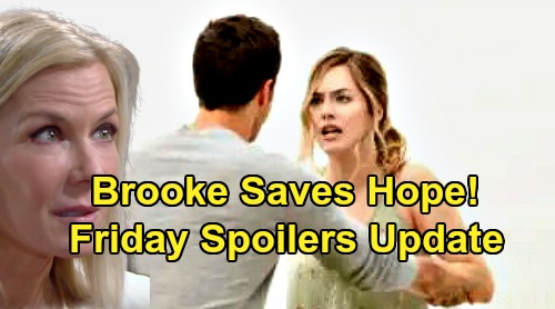The Bold and the Beautiful Spoilers: Friday, August 23 Update - Hope Shocked By Thomas At Cliff House - Brooke Saves Daughter