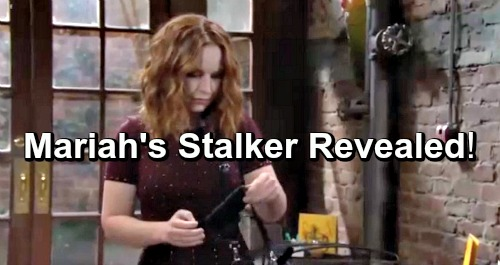 The Young and the Restless Spoilers: Mariah's Sinister Stalker Revealed - Hot Y&R Mystery Unravels