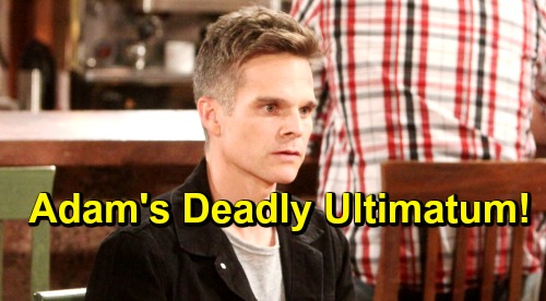 The Young and the Restless Spoilers: Adam Delivers Dangerous Ultimatum – Kevin Makes Risky Deal to Protect Family?