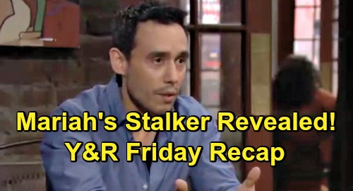 The Young and the Restless Spoilers: Friday, May 24 Recap – Adam's Outrageous Demands Infuriate Nick – Mariah's Stalker Revealed