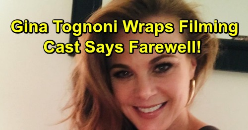 The Young and the Restless Spoilers: Gina Tognoni Wraps Y&R Filming, Cast Says Goodbye – Michelle Stafford's Comeback Begins